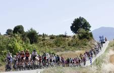 Las ciclistas por las carreteras navarras el año pasado.