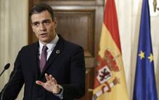 Pedro Sánchez, en sus declaraciones en Grecia.