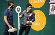 Jokin Altuna, en un entrenamiento.