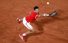 Djokovic, durante el partido contra el italiano Matteo Berrettini.