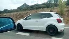 Carrera ilegal de coches en Navarra
