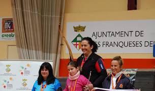 Encarna Garrido pulveriza el record de España de arco Recurvado Instintivo en el Campeonato de España de Sala celebrado en Barcelona