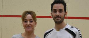 Rosa Andrés y Alejandro Garbi, vencedores absolutos del VI Campeonato Nacional de Squash Reyno de Navarra
