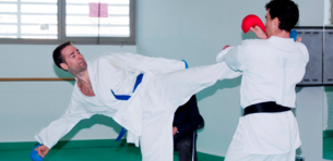 Fermín Ustarroz venció en el Campeonato Navarro en kumite +84kg