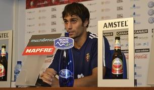 Alejandro Arribas, durante la rueda de prensa que ha concedido este viernes en El Sadar