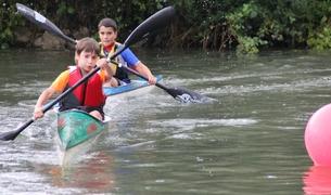 Dos participantes en el Trofeo Ayuntamiento Puente la Reina