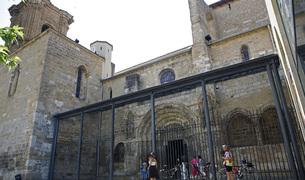 La iglesia san Miguel de Estella fue el templo más visitado por los turistas del Camino de Santiago.
