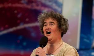 La cantante Susan Boyle, en su actuación televisiva que la llevó a la fama