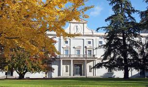 Vista de la fachada del Edificio Central de la Universidad de Navarra