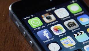 Imagen del icono de  WhatsApp en un teléfono móvil.