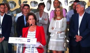 Yolanda Barcina durante el acto de inicio del curso político este viernes.