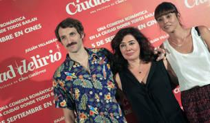 Villagrán, Gutierrez y Rubio en la presentación de 'Ciudad Delirio'.