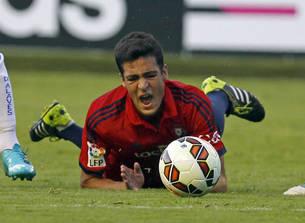 Mikel Merino se lamenta en el partido contra el Alavés