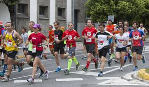 Participantes en la primera San Fermín Marathon