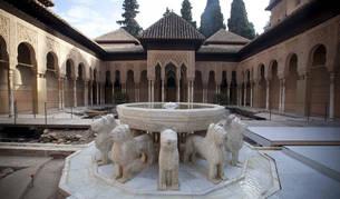Patio de los leones de La Alhambra.