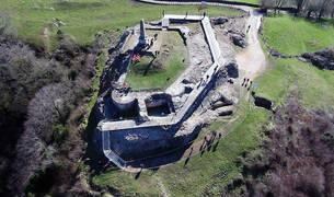 Imagen aérea del yacimiento.
