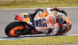 Pedrosa corre más que Rossi y Lorenzo en Motegi