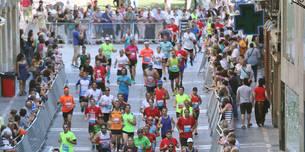 Participantes en la San Fermin Marathon del año pasado, en Chapitela.