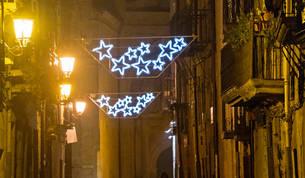 La iluminación navideña regresa a Viana tras siete años de apagón