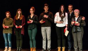 Deportistas reconocidos en la gala pasada con Nelly Iriberri (tercera por la derecha ) como premiada.