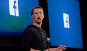 Mark Zuckerberg en un evento de la compañía Facebook.