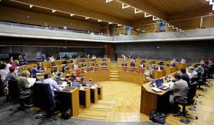 Vista general del pleno parlamentario de este jueves.