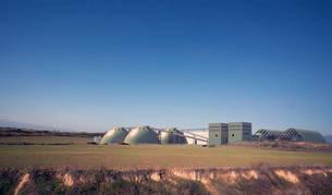 Recreación de cómo sería la futura planta de tratamiento del mineral extraído (potasa), ubicada en suelo de Sangüesa.