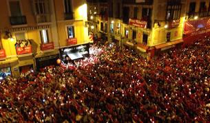 Miles de velas para apagar los Sanfermines 2016