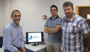 Carlos Corchón, Josemari Martínez y Joseán Górriz, socios de In2 Printing Solutions
