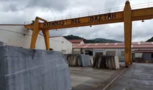 Detalle de la empresa de Mármoles del Baztán, radicada en Oronoz-Mugaire.