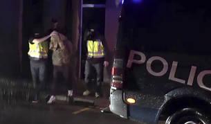 Imagen de una operación antiyihadista de la policía nacional en Barcelona.