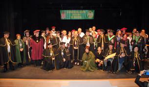 Representantes de las cofradías que acompañaron a la del Aceite de Navarra en su Capítulo General.