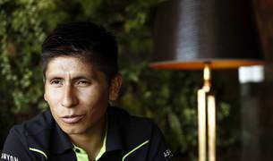 El ciclista colombiano del Movistar Team Nairo Quintana.