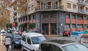 Imagen del exterior de la sede de Mancomunidad en la calle Sancho el Fuerte que se planteaba ceder a Estella.