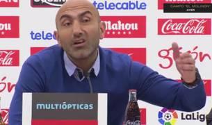 Abelardo, entrenador del Sporting.