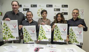 Desde la izquierda, Ino Illanes, José Flamarique, Loreto San Martín, Andrea Rodríguez y Juan Andrés Echarri, en la presentación de la campaña que Estella comenzará la próxima semana.