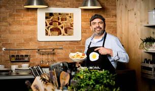El cocinero Jesús Sánchez Sáinz, en un programa de televisión.