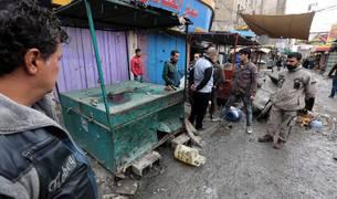 El atentado en un mercado de Bagdad