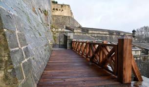 Imagen del nuevo puente que une  el Baluarte del Redín con el Frente de Magdalena.