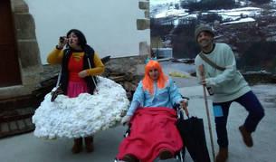 Heidi, Clara y Pedro tampoco quisieron perderse el carnaval.