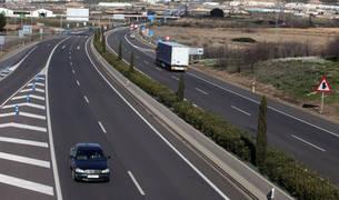 Imagen de la autovía A 68 a su paso por Tudela