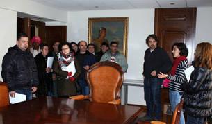 Imagen de los usuarios del centro de atención psicosocial Queiles, en su visita.