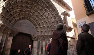 Imagen de la Puerta del Juicio, entrada principal a la Catedral de Tudela.