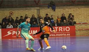 Dyego y Hamza durante el Aspil Vidal Ribera Navarra-Barcelona.