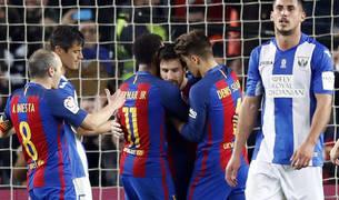 Messi no celebró el 2-1.