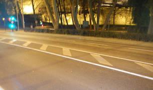 Lugar del atropello en la calle Magdalena de Pamplona.