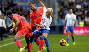 El Málaga por fin consigue ganar un partido, a costa de Las Palmas