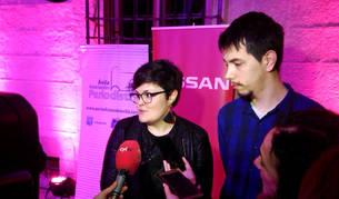 Ana Isabel Cordobés y Gontzal Aparicio, durante la entrega del premio.
