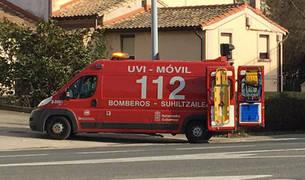 Una ambulancia medicalizada de los Bomberos de Navarra atendió el suceso.
