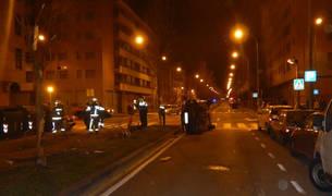 Accidente en la calle Bernardino Tirapu de Pamplona.